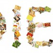Healthy Diet Collage — Stock Photo