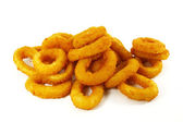 Fast Food Popular Side Dish of Onion Rings — Stock Photo
