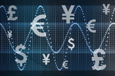 Futuristic World Currencies Business Abstract Background — Stock Photo