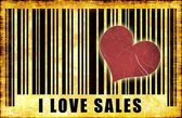 I Love Sales — Foto Stock