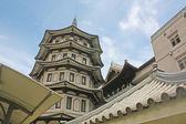 Chinese tempel stijl gebouwontwerp — Stockfoto