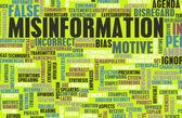 Verkeerde informatie — Stockfoto