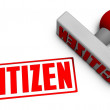 Stock Photo: Citizen Stamp
