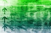 Finance Spreadsheet — Stock Photo