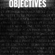 Stock Photo: Objectives