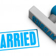 Married Stamp — Stockfoto