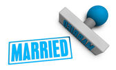 Married Stamp — Stock Photo