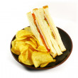 Stock Photo: Sandwich and Chips Meal Combo
