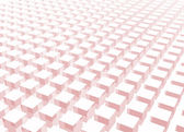 Simple and Clean Block 3d Abstract Background in Pink — Stock Photo