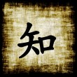 Chinese Characters - Knowledge — Stock Photo