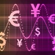World Currencies Business Abstract Background — ストック写真
