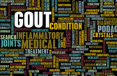 Gout Concept as a Medical Inflammatory Condition — Stock Photo