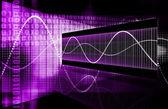 Purple Futuristic Business Chart — Stock Photo
