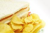 Combinação de refeição sanduíche e batatas fritas — Foto Stock