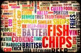 Peixe e batatas fritas — Foto Stock