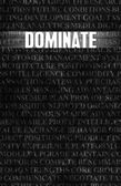 Dominate in Business as Motivation in Stone Wall — Stock Photo