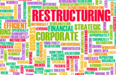 Restructuring and Downsizing in a Company Concept — Stock Photo