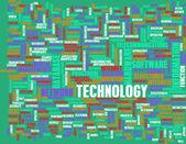Technologia słowo chmura — Zdjęcie stockowe