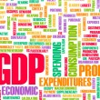 GDP or Gross Domestic Product of a Country — Stock Photo