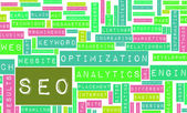 Search Engine Optimization or SEO Word Cloud — Stock Photo