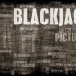 gioco del blackjack 21 — Foto Stock