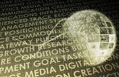 Fütüristik dijital ağı — Stok fotoğraf