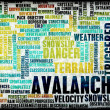 Stock Photo: Avalanche