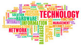 Teknoloji kelime bulutu — Stok fotoğraf