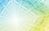 Futuristic Digital Network — Stock Photo