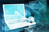 Internet Technology background — Stock Photo