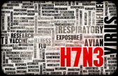 H7N3 Concept — Stock Photo