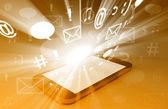Smartphone Bursting with Content — Stock Photo