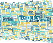 Nuvem de palavra de tecnologia — Foto Stock