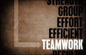 Teamwork Core Principles — Stock Photo