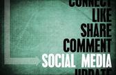 социальные медиа — Стоковое фото