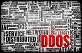 DDOS Distributed Denial of Service Attack — Foto de Stock