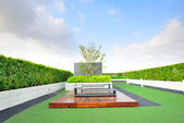Landscape of garden on rooftop — Stock Photo