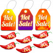 Hot sale labels - Stock Vector