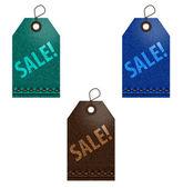 Jeans sale labels — Stock Vector