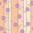 Cute floral seamless background — Stock Vector