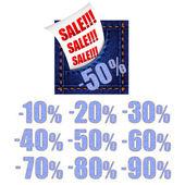 Jeans försäljning banner — Stockvektor