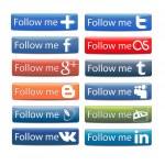 Follow Me button — Stock Vector #25269247