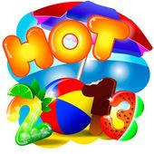 Heiße sunner 2013 abbildung — Stockvektor