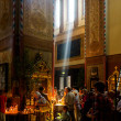 Pentecost in the Alexander Nevsky Cathedral — Stock Photo
