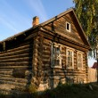 Abandoned old house in russian village — Stock Photo