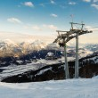 Ski Lift in Alpen — Foto Stock