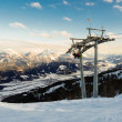 Ski Lift in Alpen — Stock fotografie