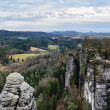 Top View from Bastei in german national park — Stock Photo