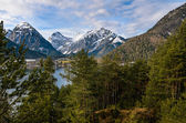 View on Mountain Alps from Lake Achen — Stock Photo
