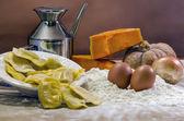 Cocina tradicional italiana con ingredientes — Foto de Stock